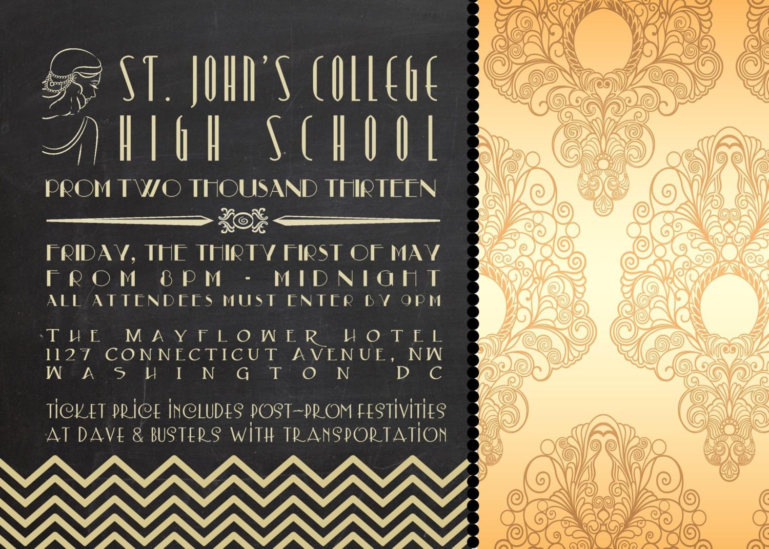 The Great Gatsby Party Invitations