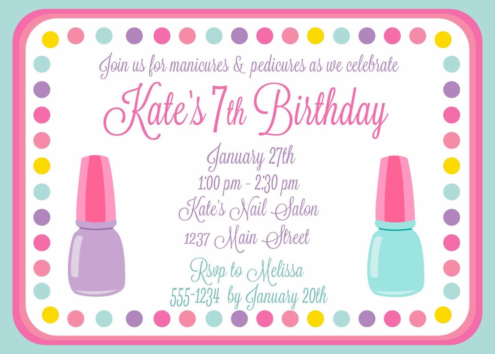 The Larson Lingo  Kate's Nail Salon Birthday Party