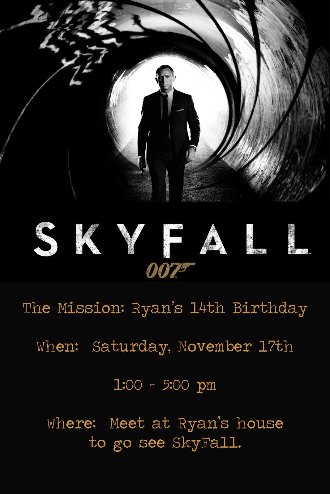 The Seal Bark  Skyfall Birthday Party
