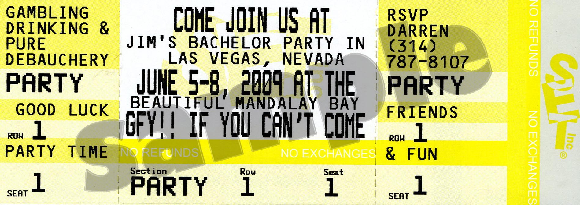 Ticket Invitations For All Your Special Occasions And Parties!