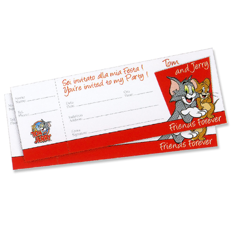 Tom & Jerry Friends Forever Invitations