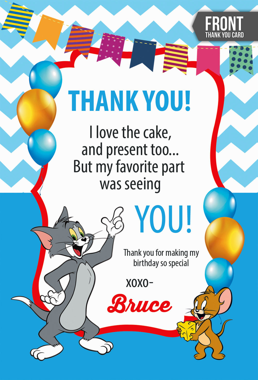 Tom And Jerry Invitations Card