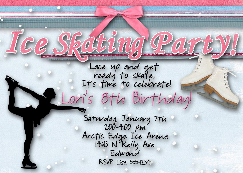 Top 10 Ice Skating Birthday Party Invitations