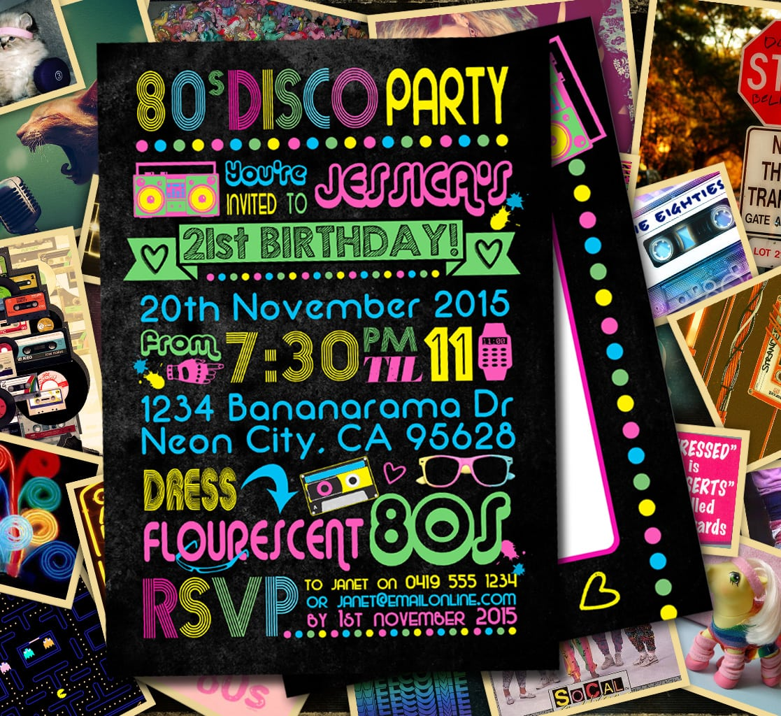 Top 12 Neon Birthday Party Invitations