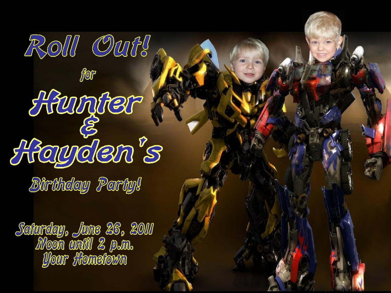 Transformers Birthday Invitations – Gangcraft Net