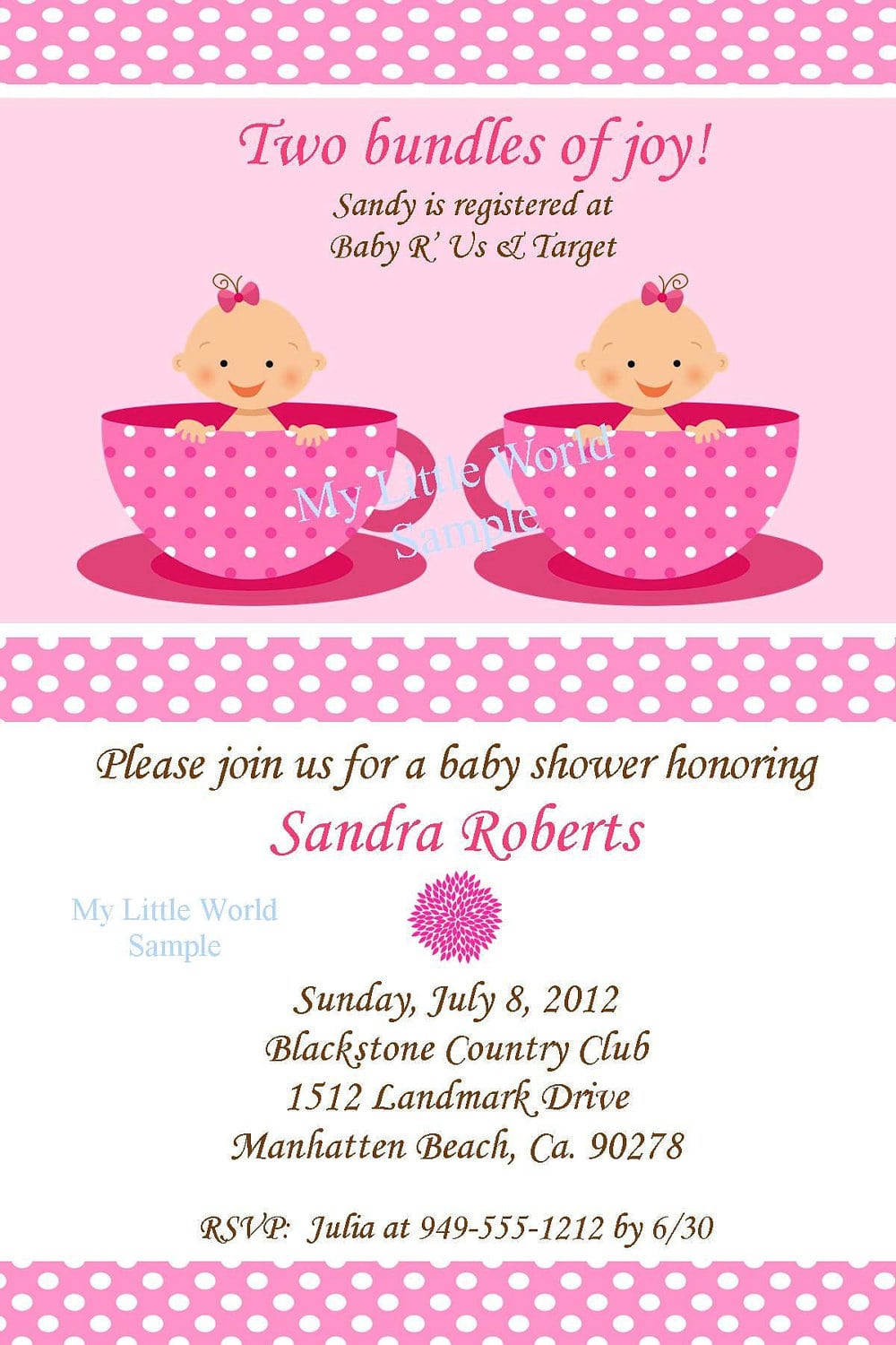 Twin Baby Shower Invitations Templates Ideas