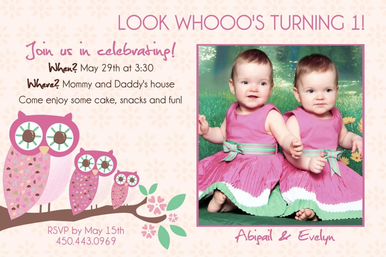 Twin Birthday Invitations – Gangcraft Net