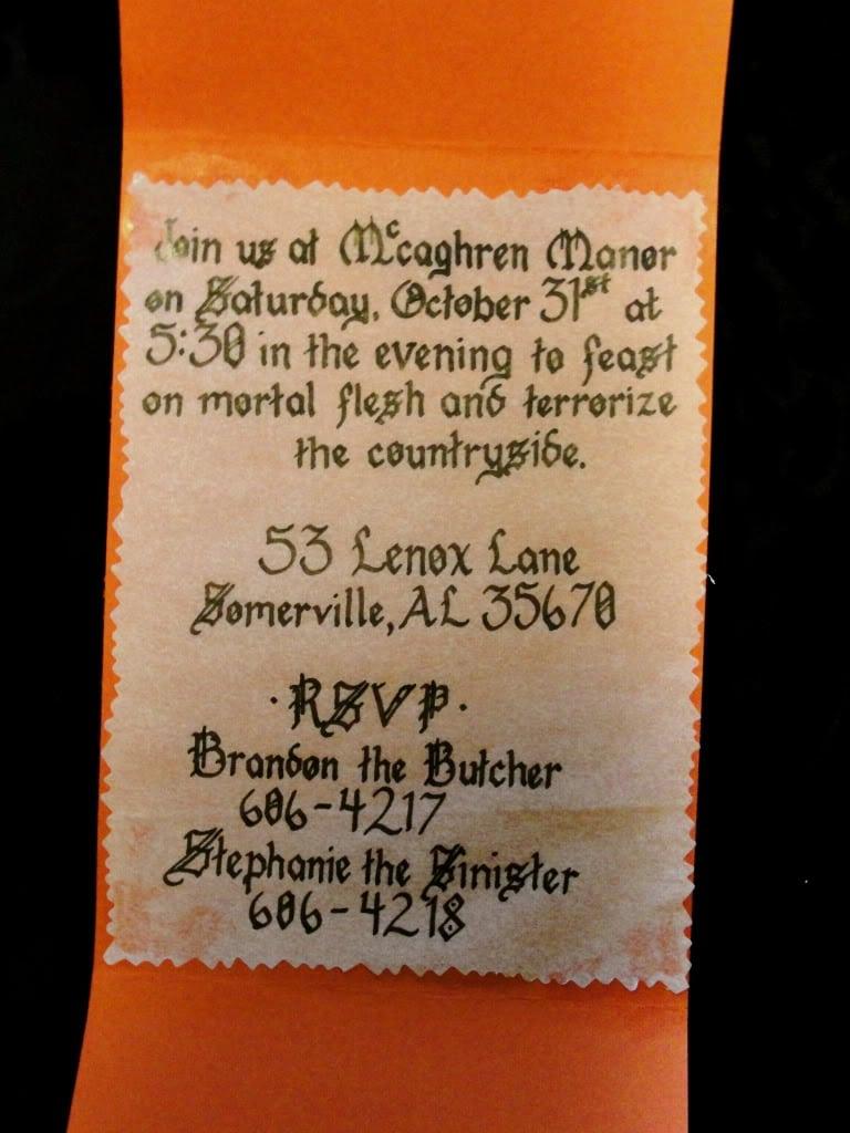 Unusual Halloween Invitations