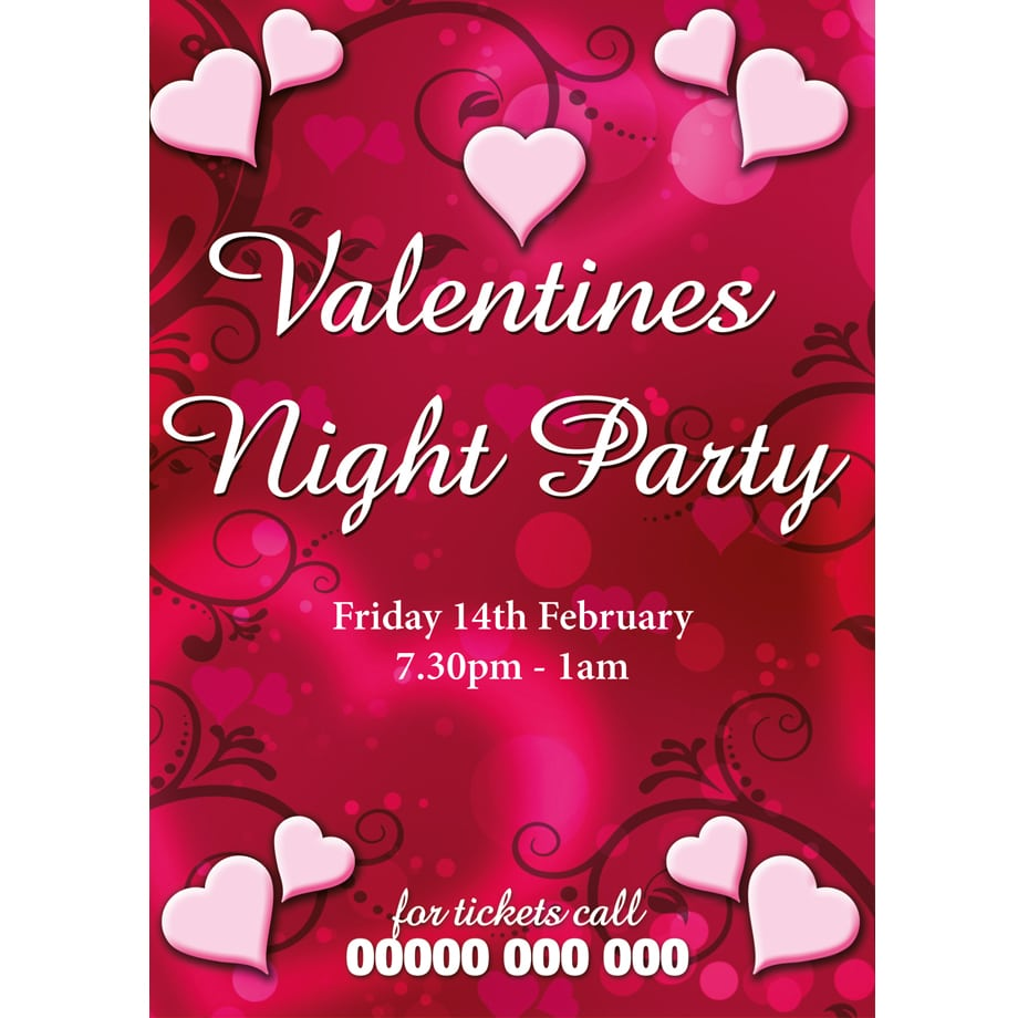 Valentine  Valentine Day Party Invitations Design Free Printable