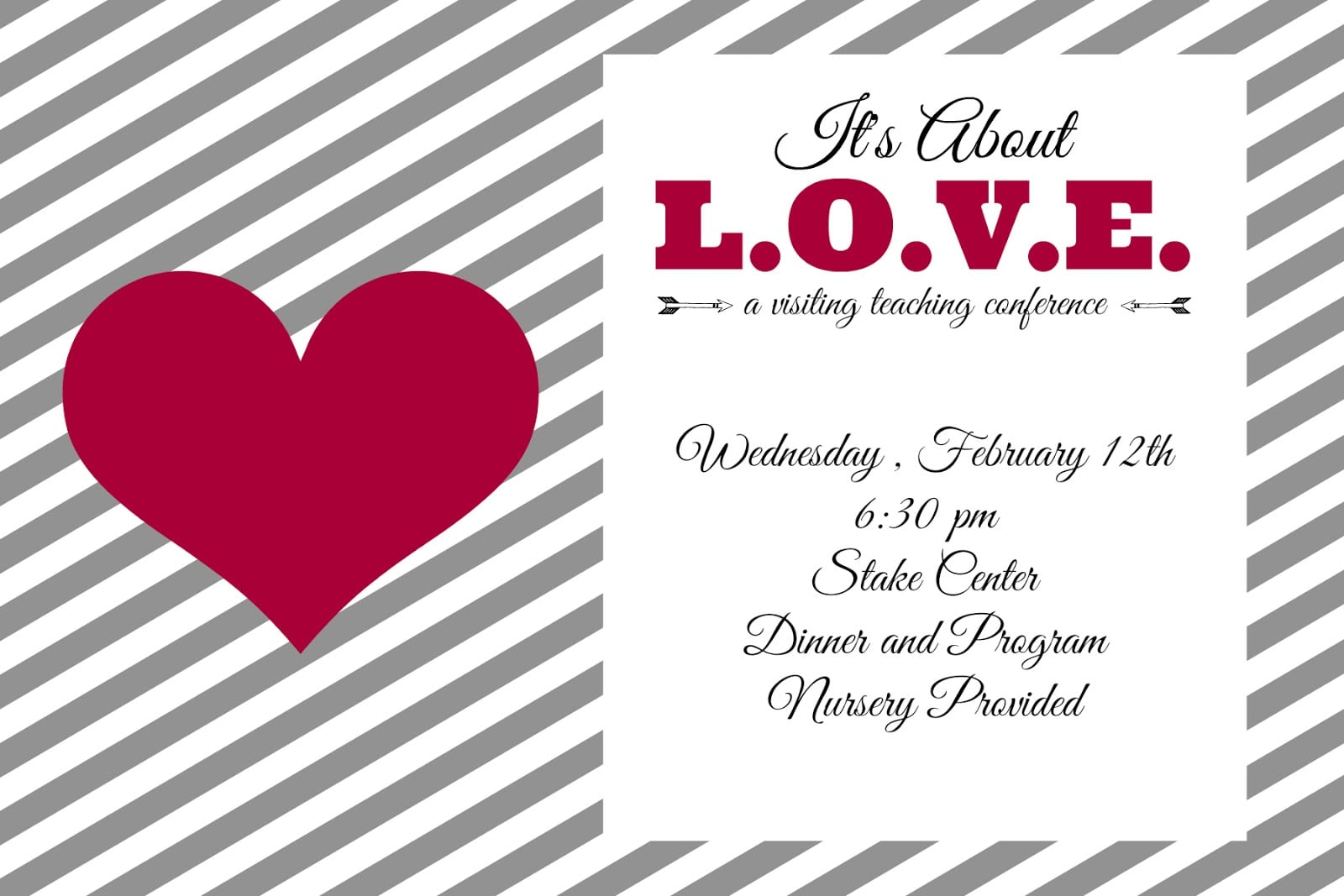 Valentine's Day Party Invitation  Free Editable Download