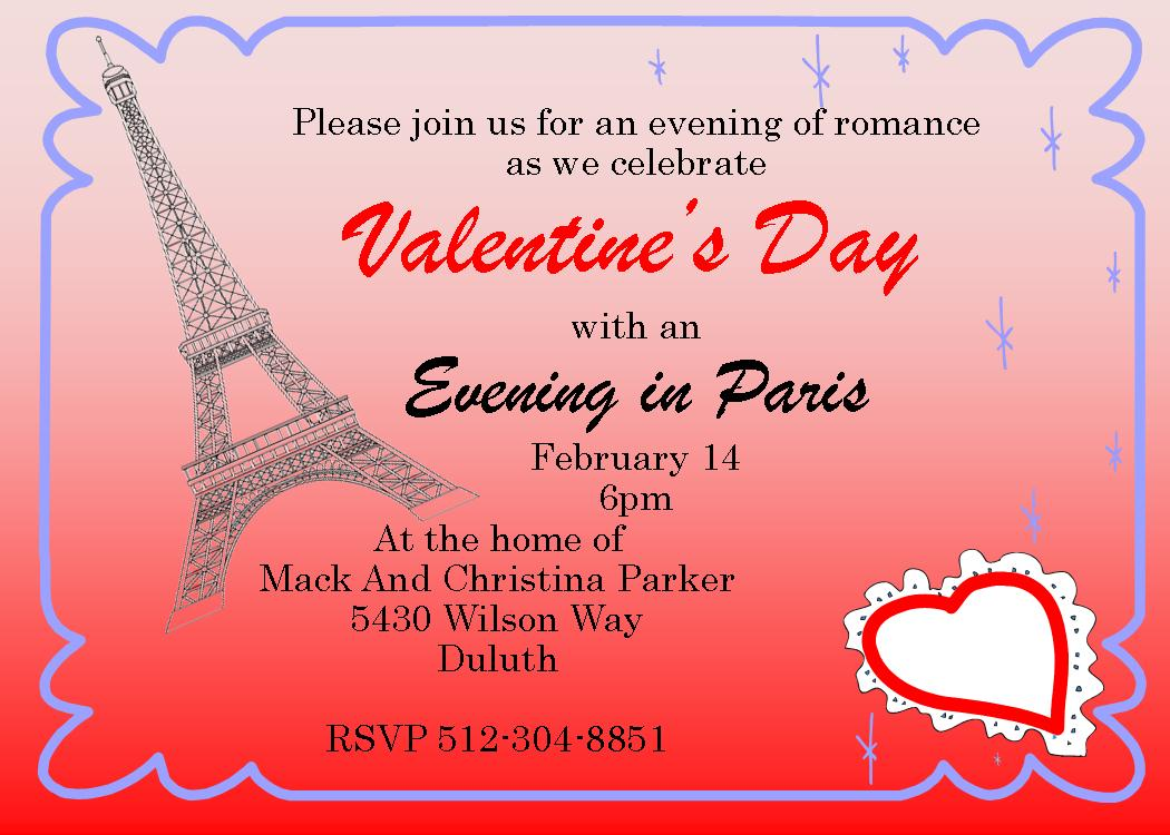 Valentine's Day Party Invitations 2017