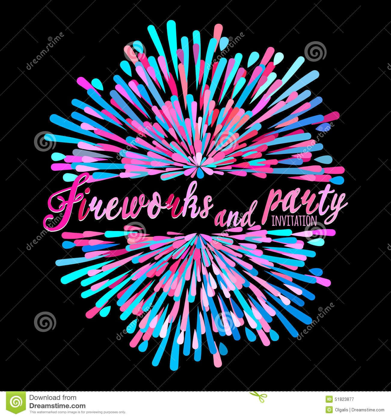 Lovely Firework Party Invitations Ideas - Invitation Card Ideas ...
