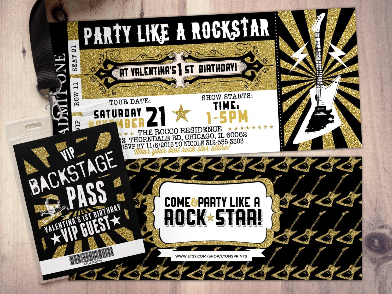 Vip Birthday Party Invitations