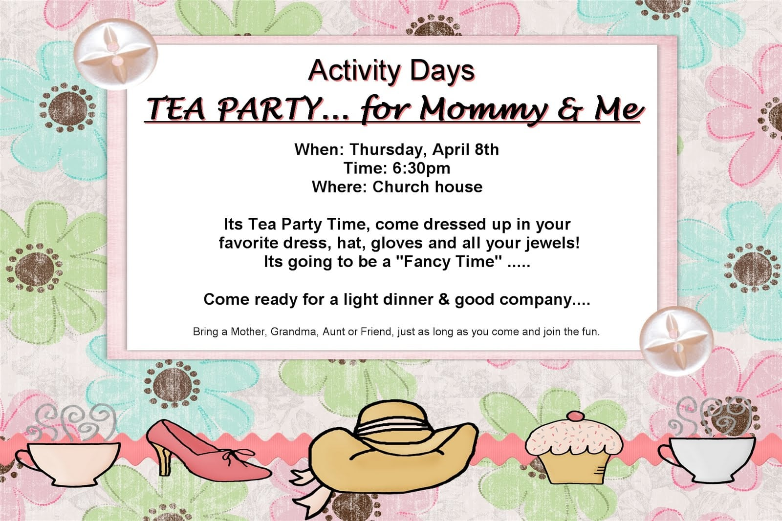 Watch More Like Mother Daughter Tea Party Invitations
