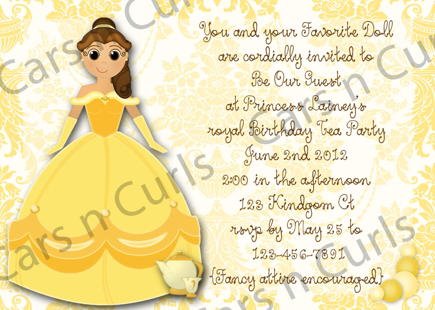 Watch More Like Princess Tea Party Invitation Wording