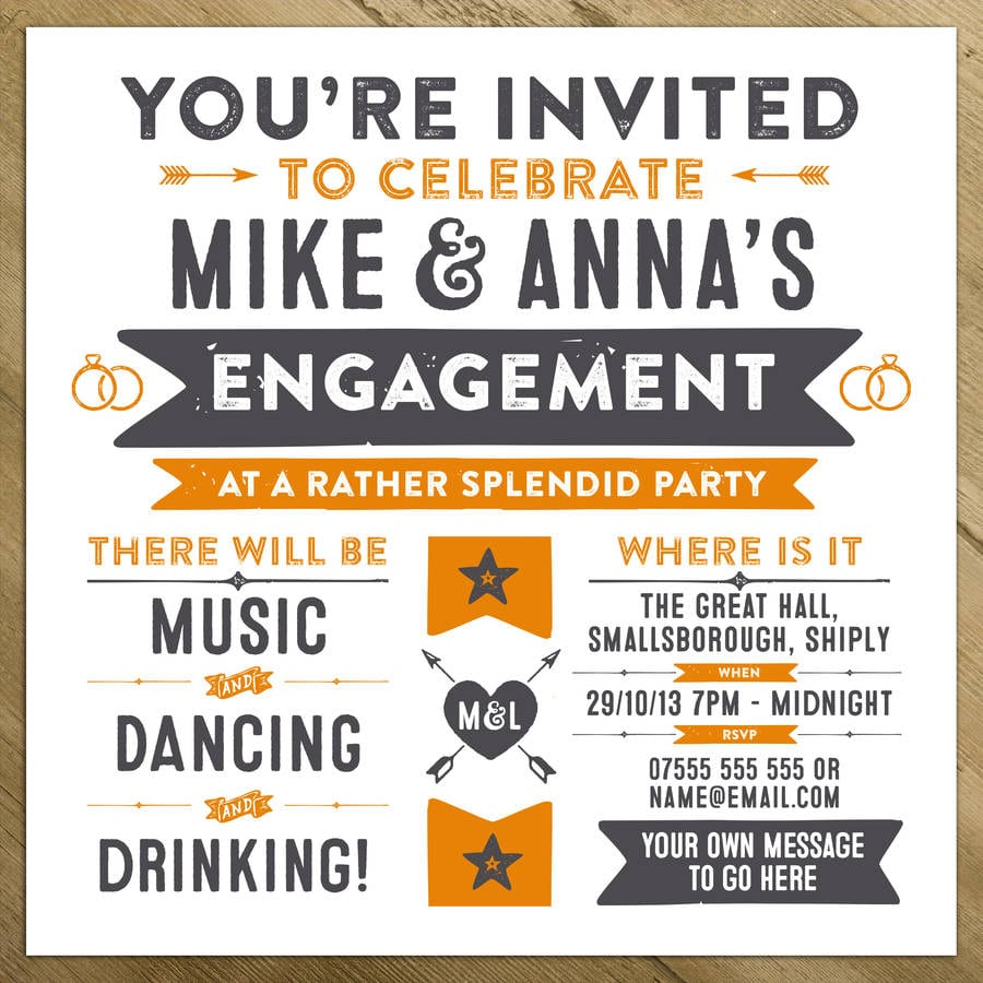 Wedding   Engagement   Birthday Party Invitations By A Is For
