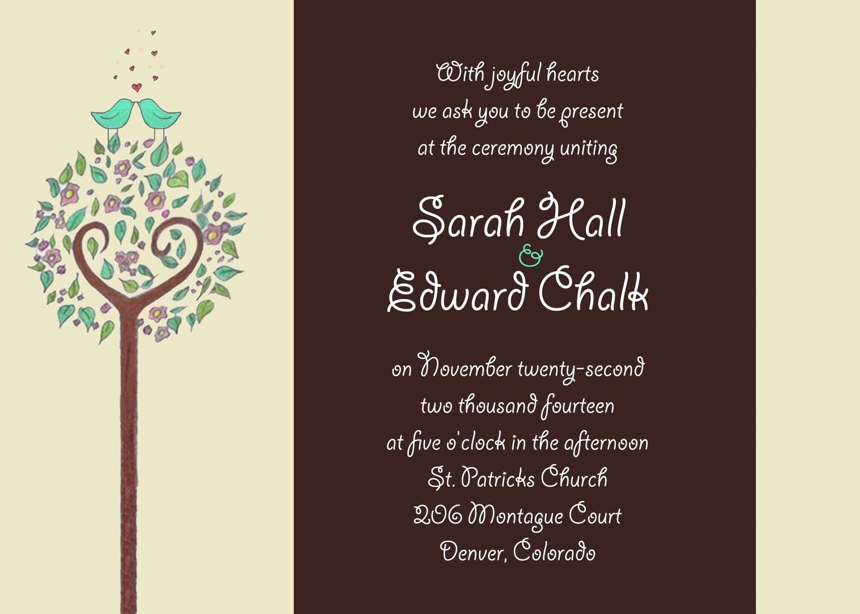 Wedding Dinner Invitation Templates