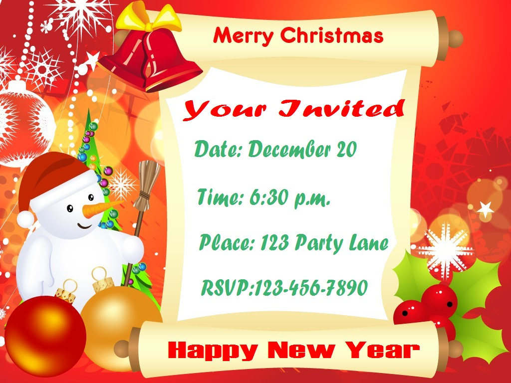 Wedding Lunch Party Invitation