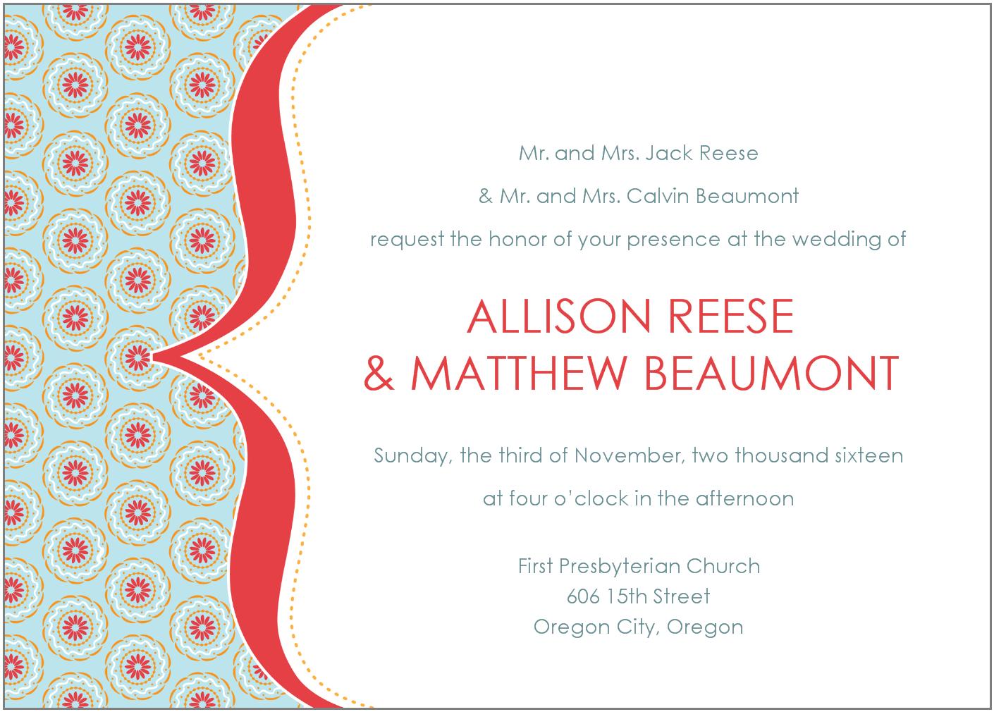 Wedding Party Invitation Wording Informal  Wedding  Inspiring