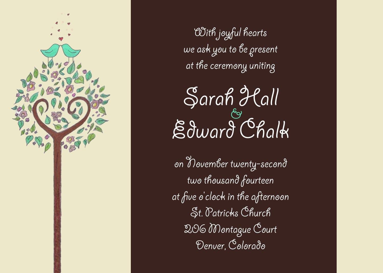 Wedding Party Invitations