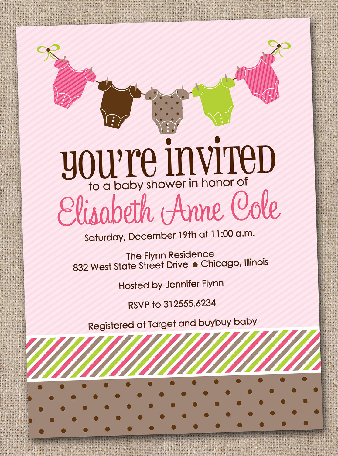 Welcome Baby Shower Invitations