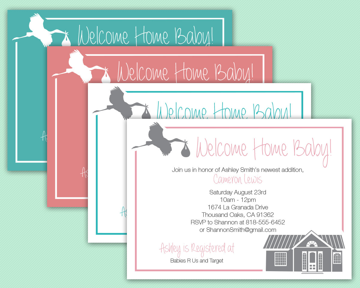 Welcome Home Baby Invitation