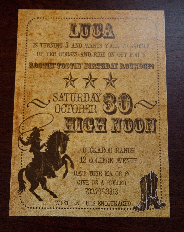 Western Party Invitations – Gangcraft Net