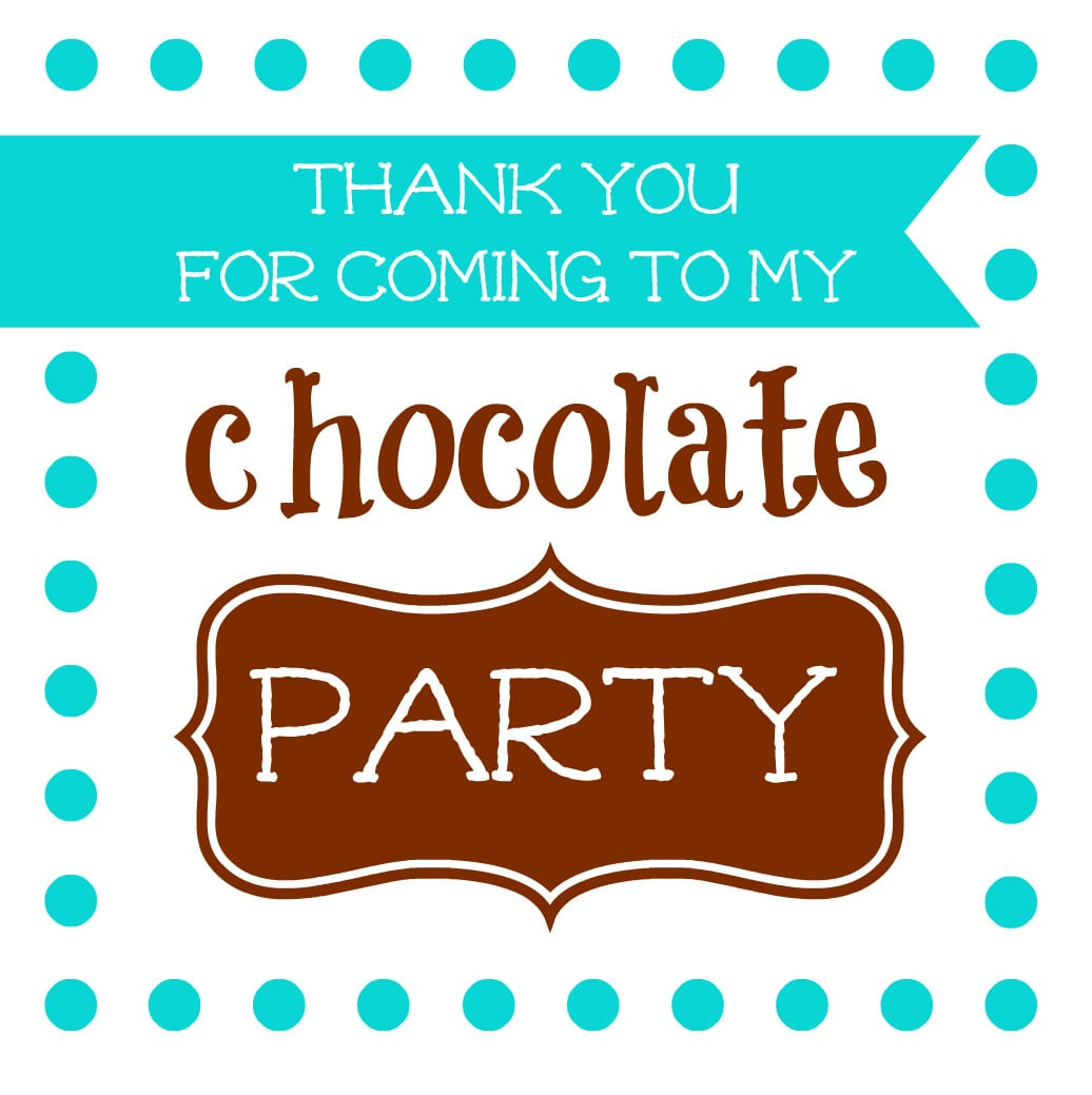 Winter Chocolate Party – Free Invites And Tags