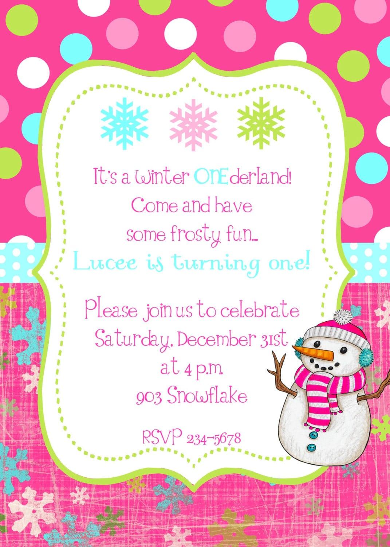 Winter Party Invitations – Gangcraft Net