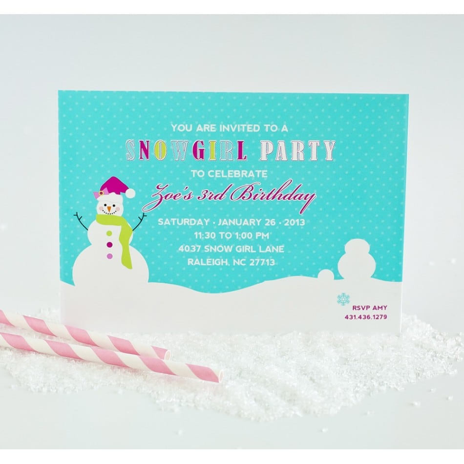 Winter Wonderland Party Invitations Pictures