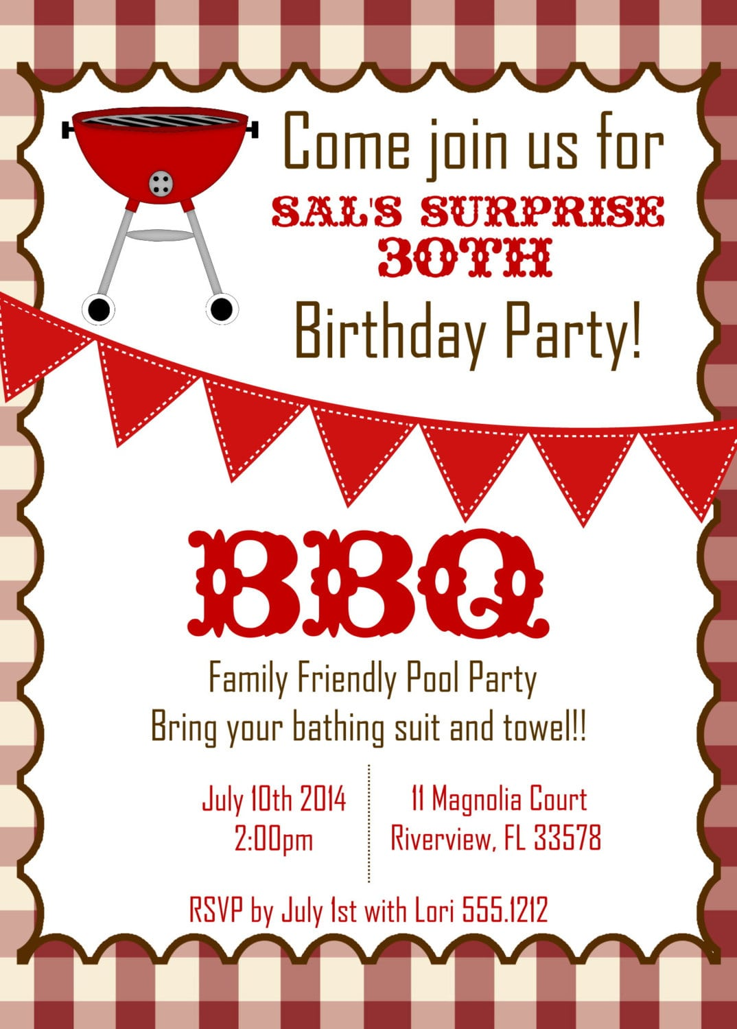 Wonderful White Background Colors With Barbecue Birthday Party