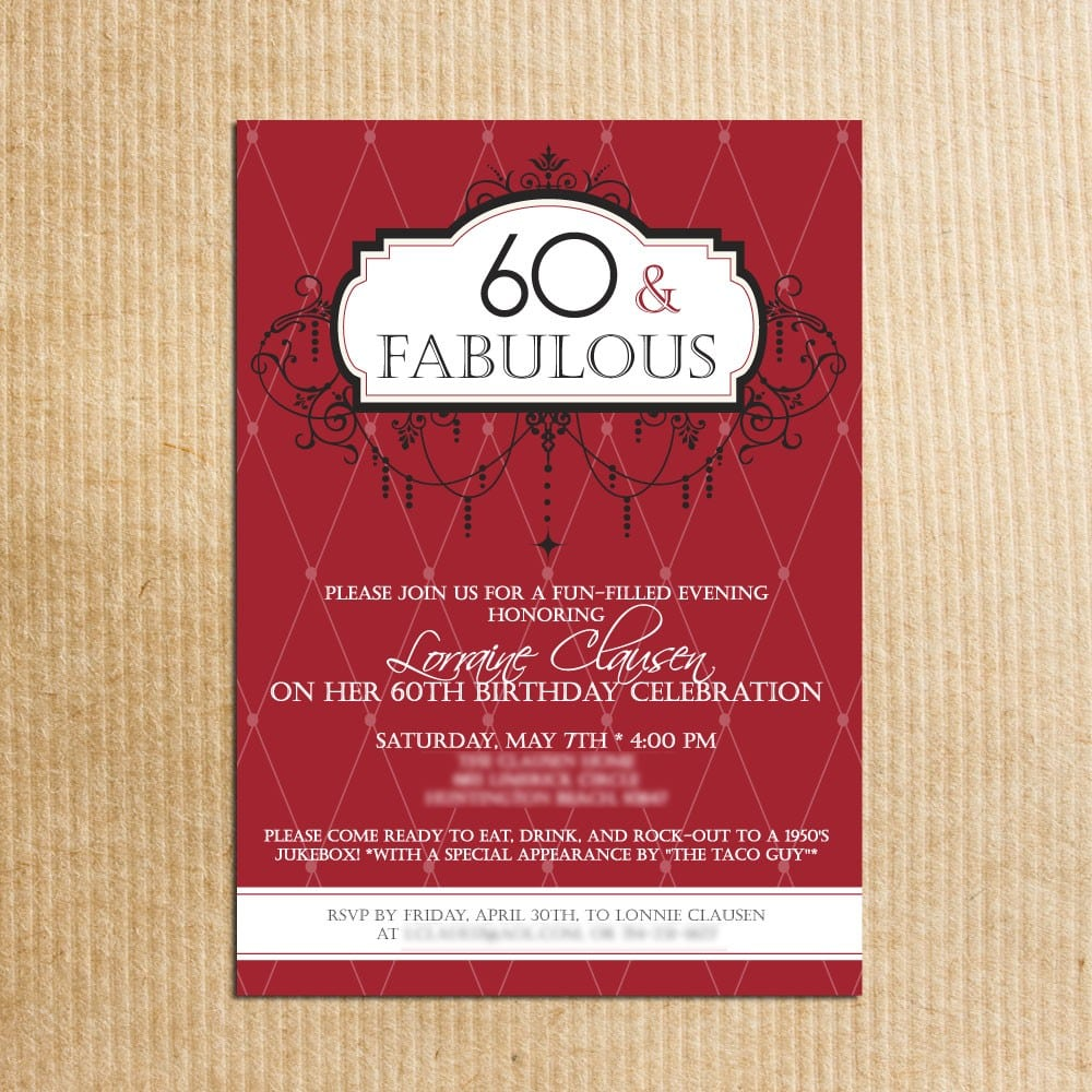 60th Birthday Party Invitations Wording - Mickey Mouse Invitations ...