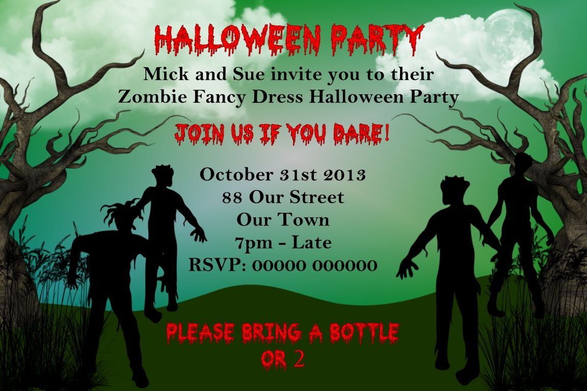 Zombie Party Invitations - Mickey Mouse Invitations Templates