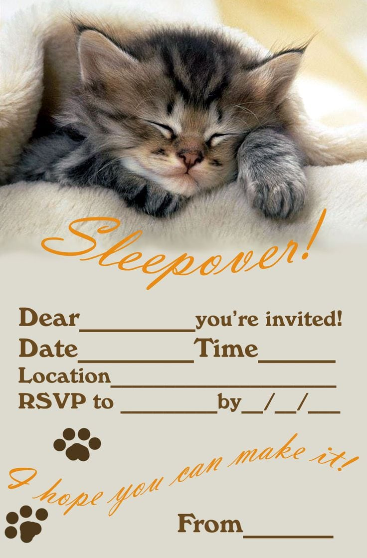 1000+ Ideas About Slumber Party Invitations On Pinterest