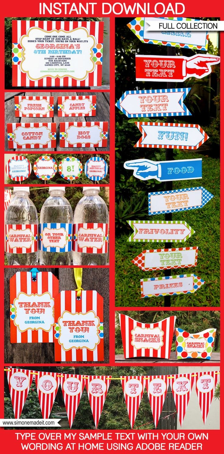 17 Best Ideas About Circus Party Invitations On Pinterest