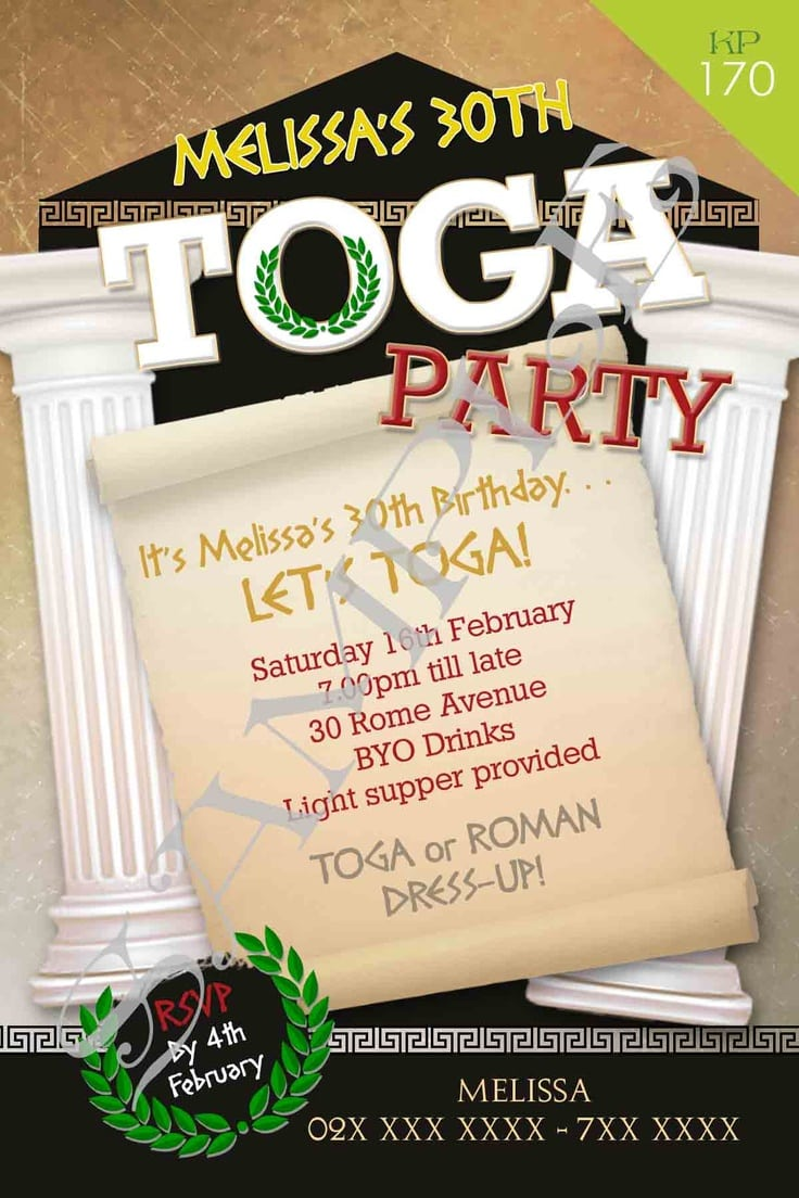 17 Best Images About Toga Party On Pinterest