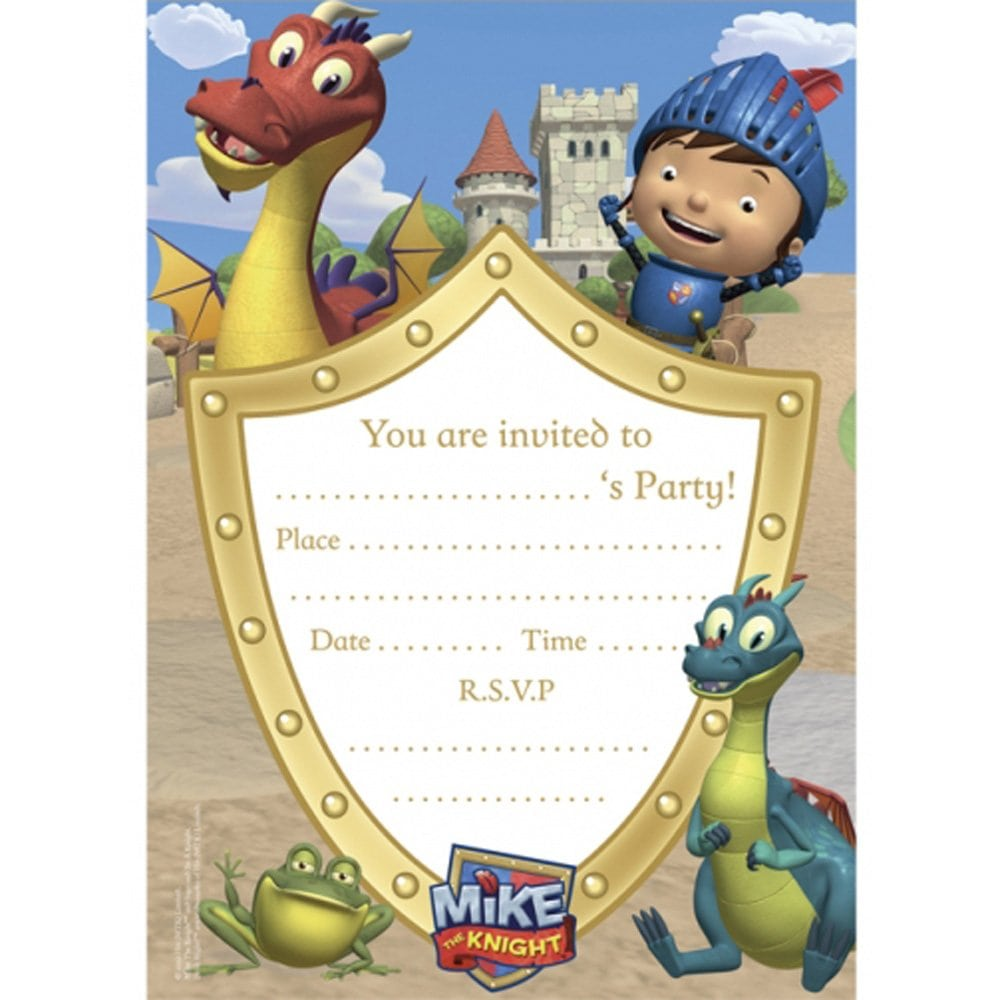 20 Mike The Knight Party Invitations & Envelopes