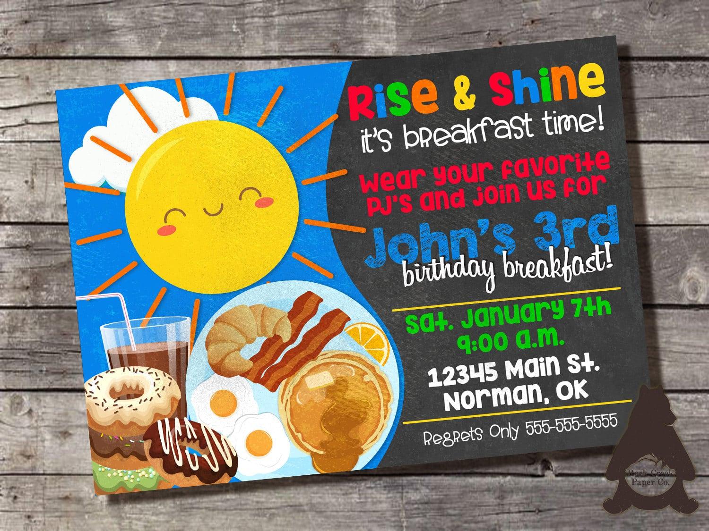 25+ Best Ideas About Breakfast Birthday Parties On Pinterest