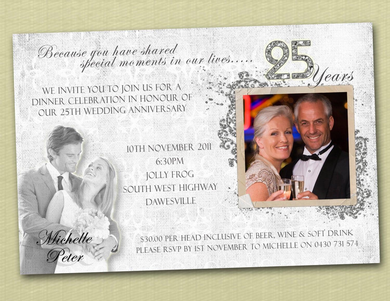 25th Wedding Anniversary Invites Uk