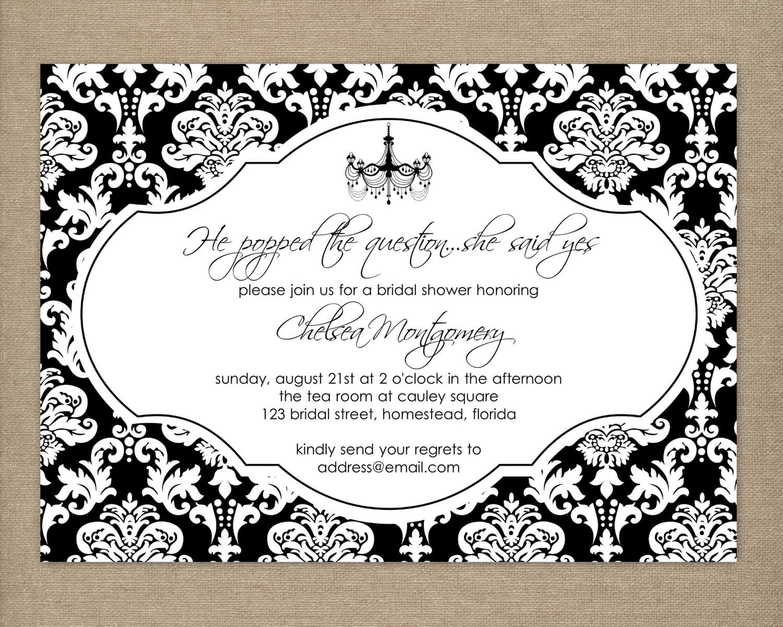 Birthday Invitation Templates Black And White
