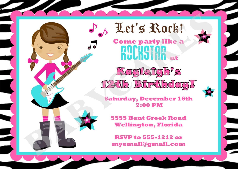 Rock star birthday party invitations 4 marvellous rockstar party invitation wording stopboris Choice Image