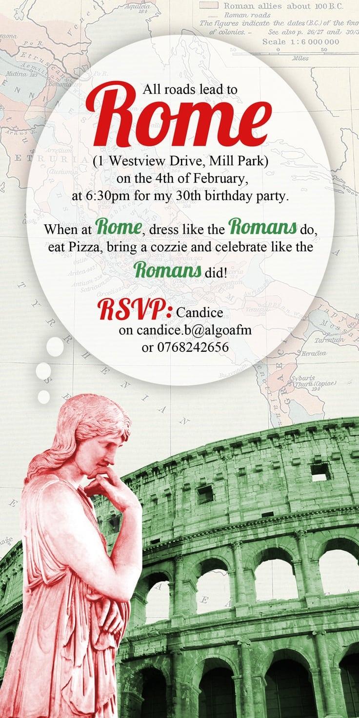 7 Wonderful Toga Party Invitation Ideas