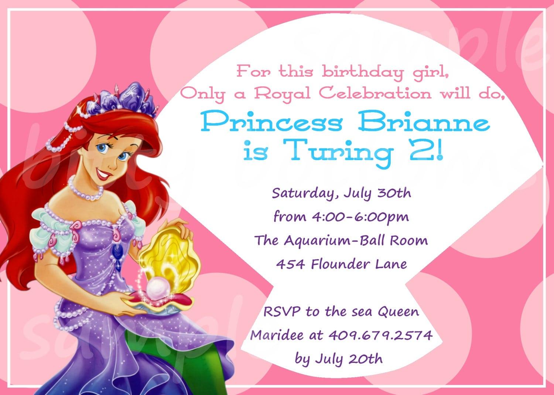 Ariel Party Invitations