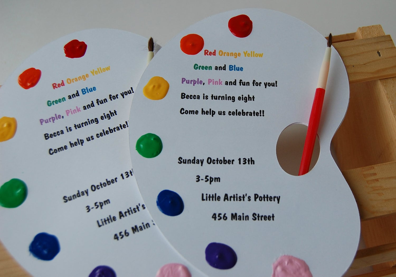 Art Party Invitation, Paint Party Invitation, Craft Party