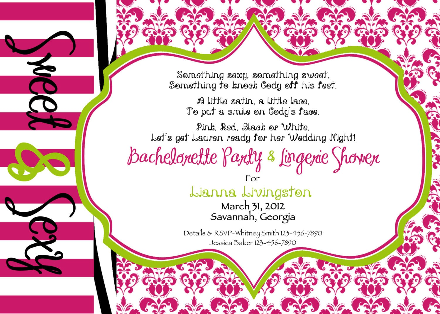 Bachelorette Party Invitation Wording – Gangcraft Net