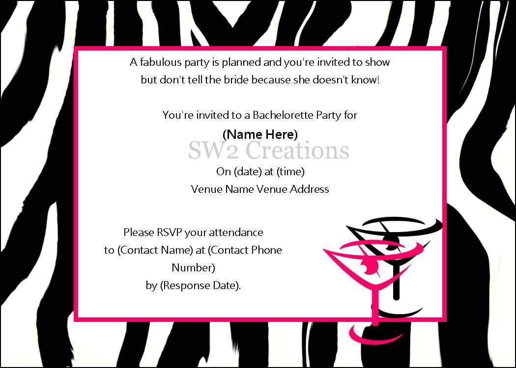 Bachelor Party Invitations Wording Funny