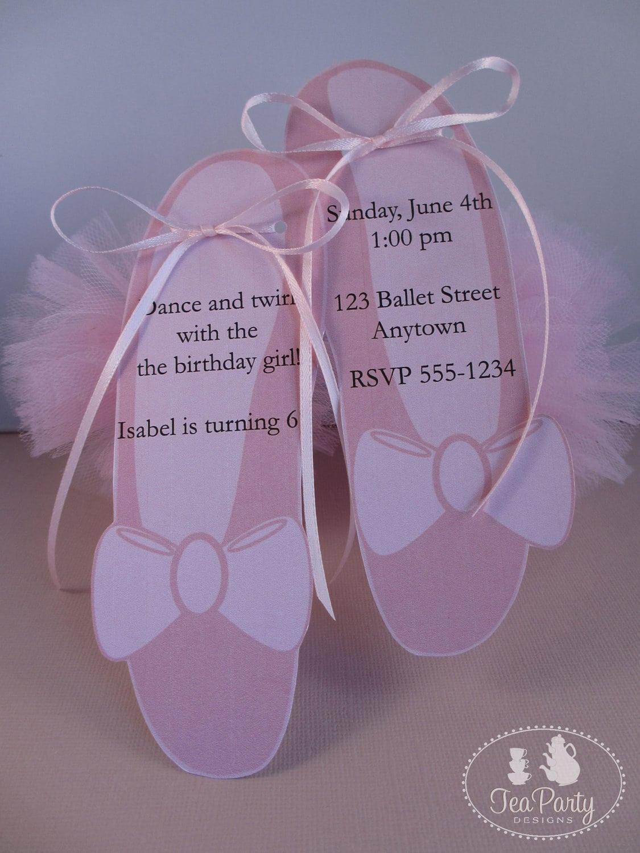 Ballet Birthday Party Custom Invitations