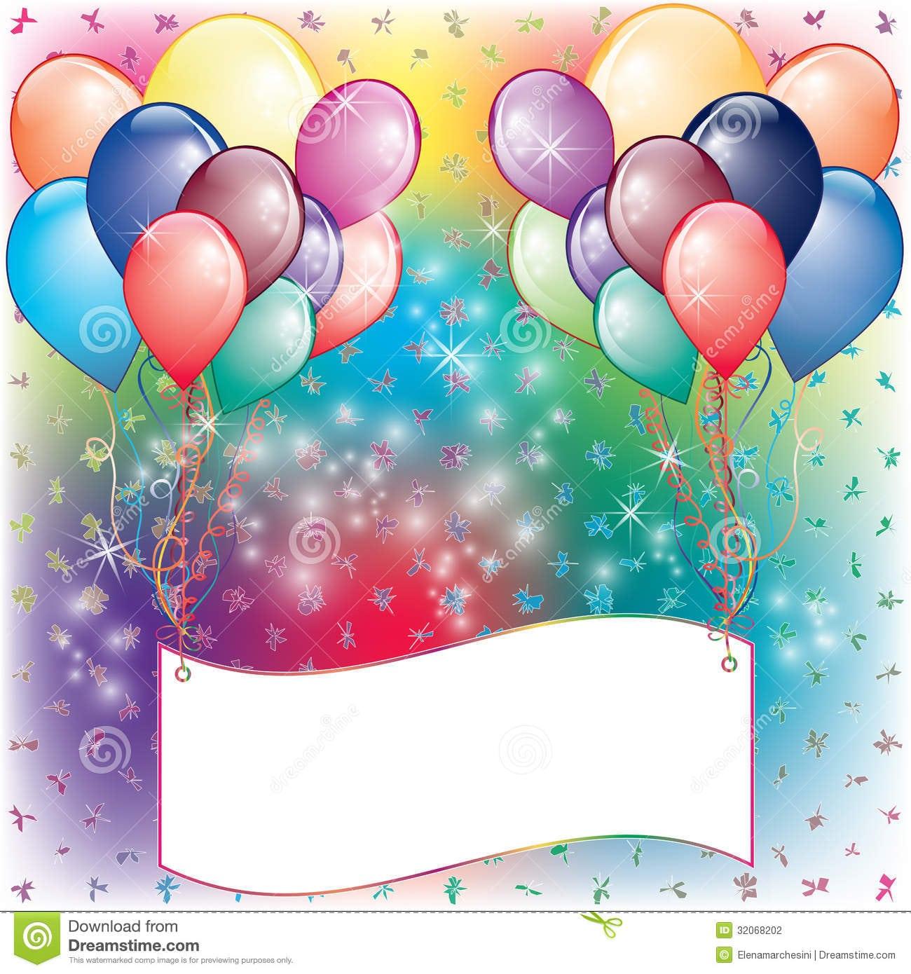 Balloon Party Invitations - Mickey Mouse Invitations Templates