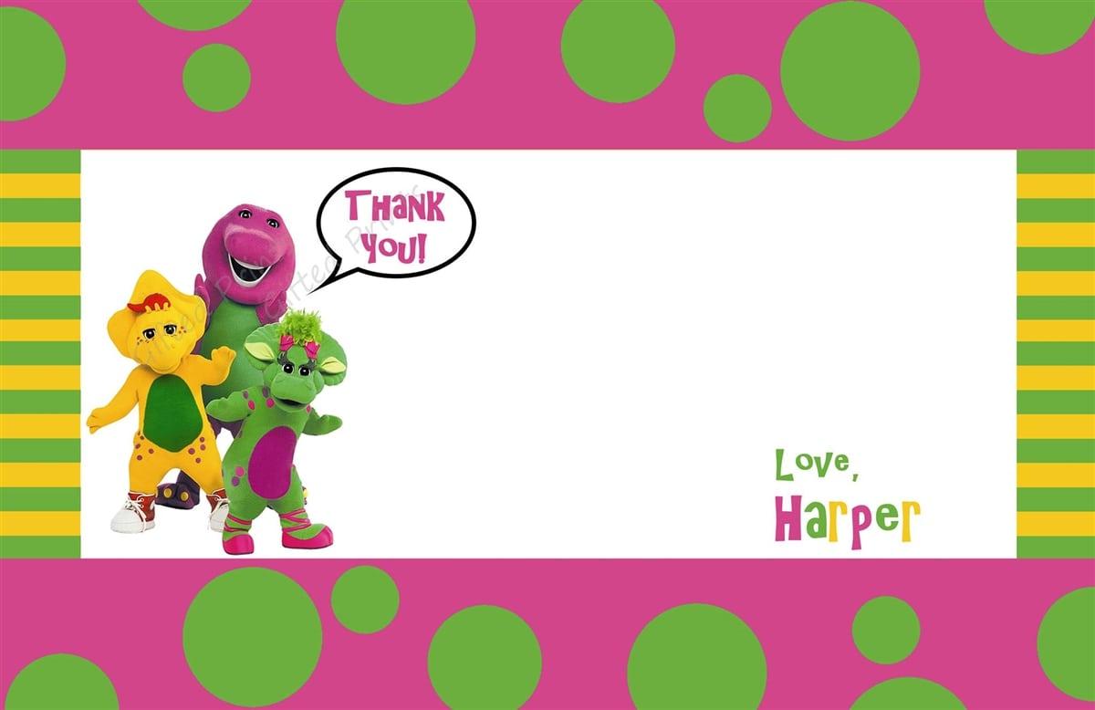 Barney Birthday Invitations Template Tags wedding invitation ...