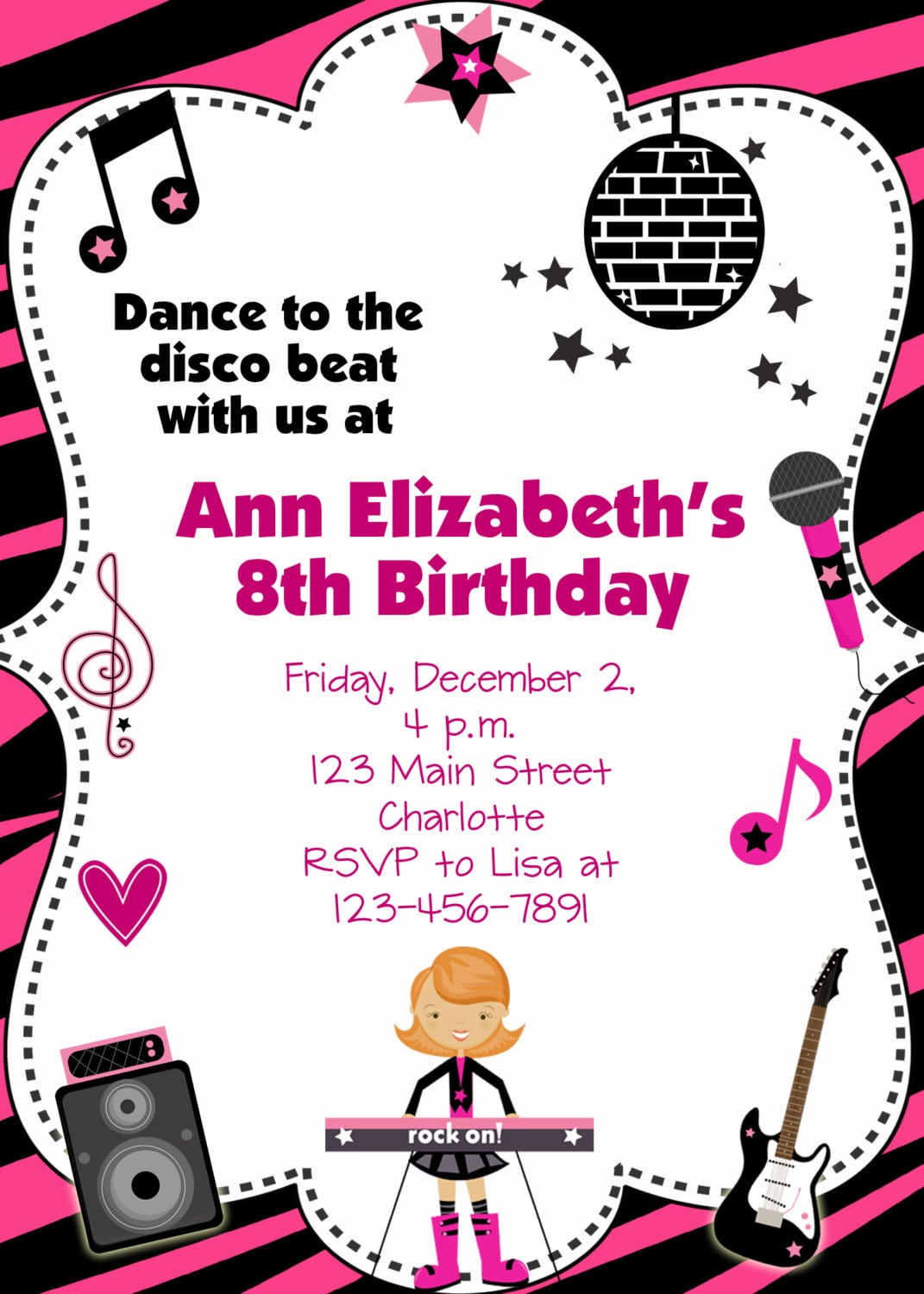 Disco Party Invitations Wording - Life Style By Modernstork.com